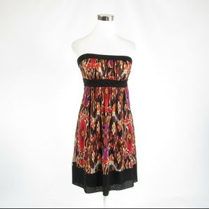 Anthropologie dark brown red dress 6